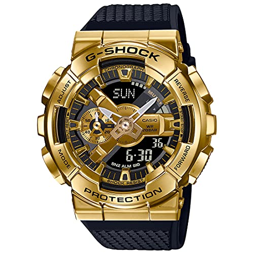 Casio G-Shock Analog-Digital Gold Dial Men's Watch-GM-110G-1A9DR