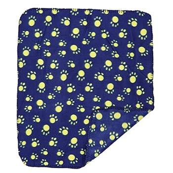 ueetek Animal Couverture Couverture pour chien chat 60x 70Tapis doux sommeil couverture en polaire double face (bleues)