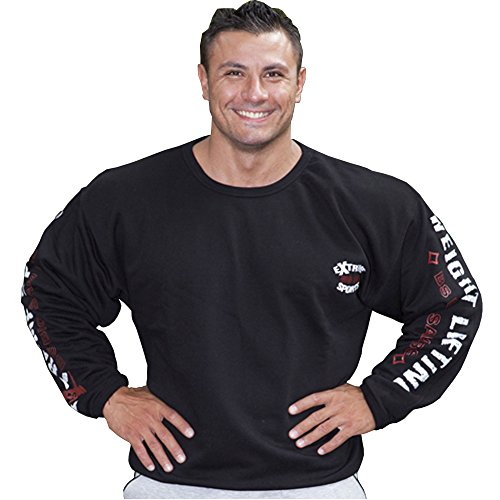 BIG SM EXTREME SPORTSWEAR Herren Sweater Sweatshirt Jacke Hoodie 4524 schwarz L
