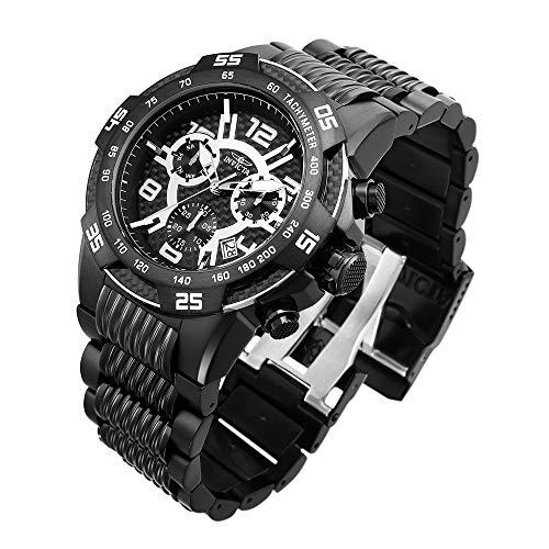 Invicta 25288 Men's Speedway Black IP Steel Bracelet Chrono Watch