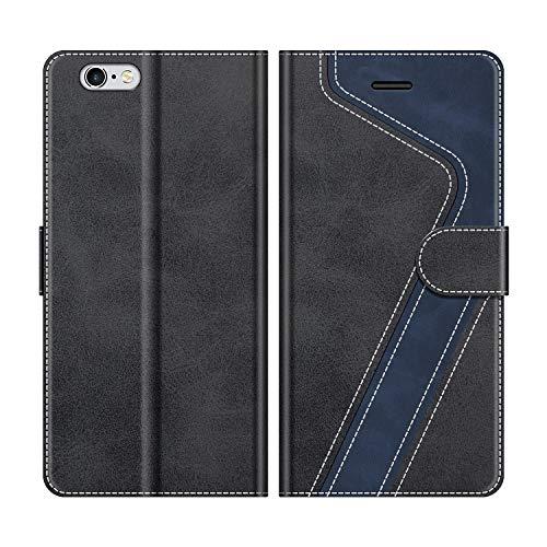 MOBESV Custodia iPhone 6S Plus, Cover a Libro iPhone 6S Plus, Custodia in Pelle iPhone 6S Plus Magnetica Cover per iPhone 6S Plus/iPhone 6 Plus, Nero