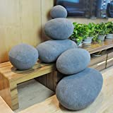 QTQZ Stone Cushion,Creative Pebbles Pillow Lazy Sofa Fashion futon-B 22x22x22cm(9x9x9inch)