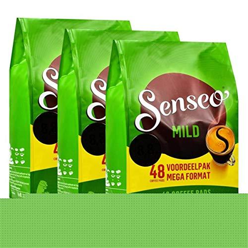 Senseo Kaffeepads Mild Roast, Feiner und Samtweicher Geschmack, Kaffee, neues Design, 3er Pack, 3 x 48 Pads