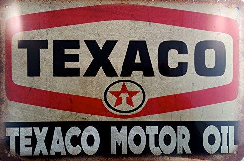 Kustom Factory Stahlplatte Texaco Motor Oil Vintage