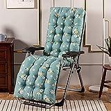 XCTLZG Cojín suave para silla de respaldo alto, cojín para silla de jardín con correa antideslizante, cómodo cojín reclinable para jardín al aire libre, cojín grueso