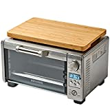 """Cutting board for Mini Smart Oven, Compatible with Breville BOV450XL Countertop Toaster Oven, With Heat Resistant Non-Skid Silicone Feet, Creates Storage Space, Protects Cabinets Cupboard, 15.2x9.5"""""""