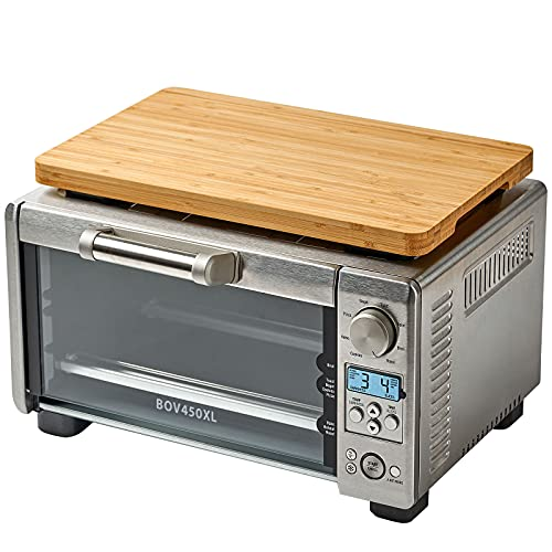 """Cutting board for Convection Toaster Oven, Compatible with Breville BOV450XL Mini Smart Oven, With Heat Resistant Non-Skid Silicone Feet, Creates Storage Space and Protects Cabinets Cupboard, 15x9.5"""""""