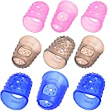 BLUECELL Large Medium Small Size Guitar Fingertip Protectors Silicone Finger Guards for Ukulele Electric Guitar