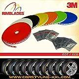 NEU - Rimblades mit 3M Kleber - Singlepackung - Farbe: rot - Premium Felgenschutz und Styling für Alufelgen bis 22'' ~ schneller Versand innerhalb 24 Stunden ~1