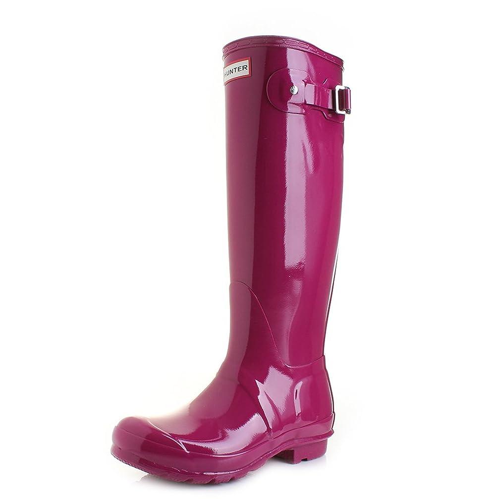 アフリカうめき徹底[Hunter] Women 's Original Tall Gloss Rain Boot US サイズ: 6 カラー: ピンク