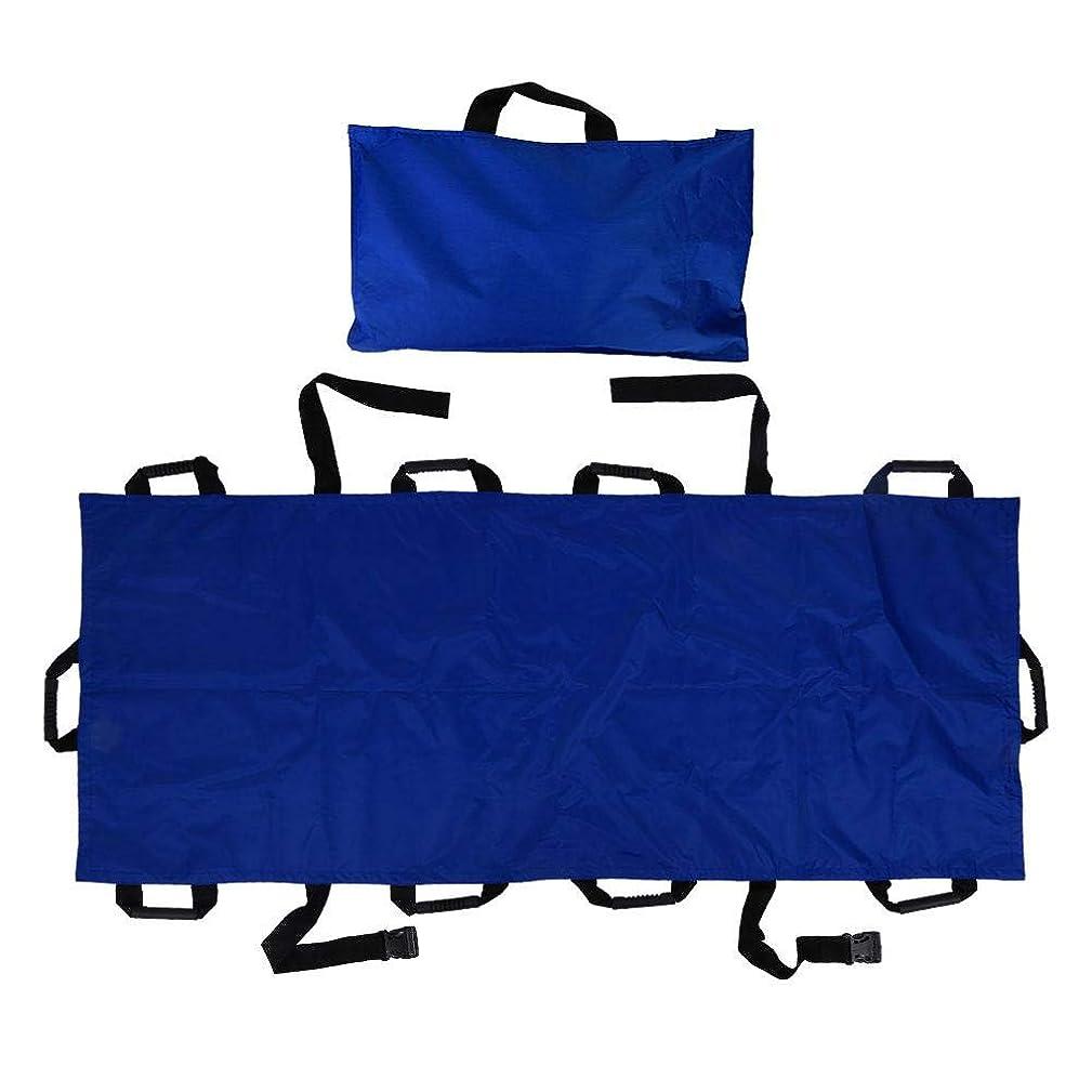 ピッチ暴徒妊娠した家庭用ストレッチャー、ポータブル10ハンドルオックスフォード布折りたたみ式患者輸送ソフトストレッチャー