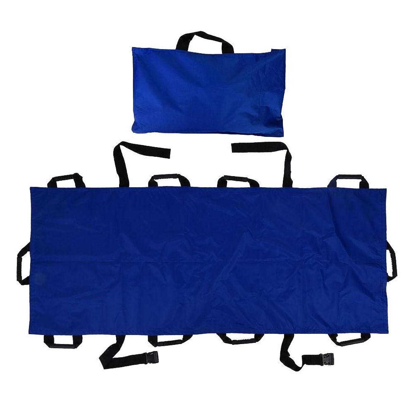 カレッジボルト心配ポータブル輸送ストレッチャー、10ハンドル付きオックスフォード布折りたたみソフトストレッチャー, ポータブル10ハンドルオックスフォード布家庭用ストレッチャー折りたたみ式患者輸送ソフトストレッチャー