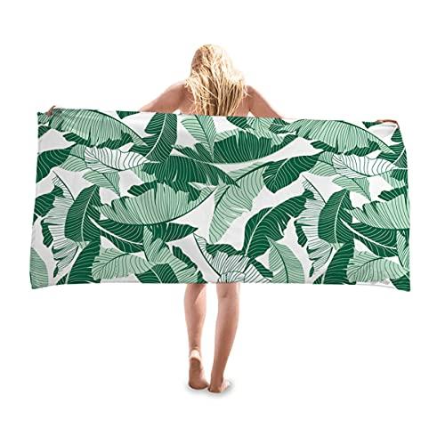 SRTUVDQ Toalla De Playa Planta Verde Protector Solar Mantón Microfibra Sin Arena Piscina Toallas De Natación Secado Rápido para Adultos Y Niños Súper Absorbente,Style 4,70X35CM