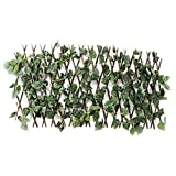 MOVKZACV - Trellis con foglie di edera, espandibile/estensibile per la privacy, foglie artificiali e decorazione di vite, pannello per recinzione per balcone, patio, esterno, giardino, cortile