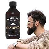 Shampoo de bergamota, para crecimiento de barba y cabello, con cola de caballo, para hombre o mujer, crecimiento, con extracto de romero, con sábila, aceite de coco.