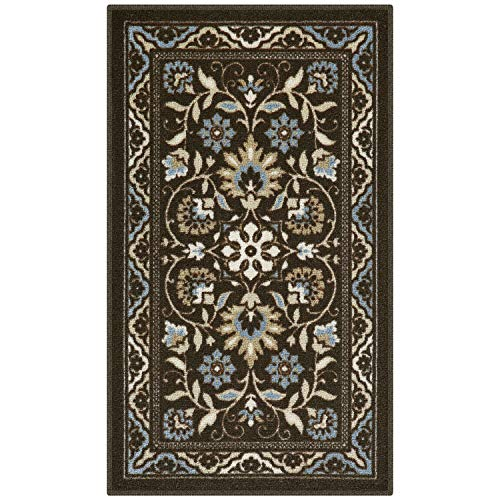 Maples Rugs Florence Kitchen Rugs Non Skid Accent Area Carpet [Made in USA], 1'8 x 2'10, Coffee Brown