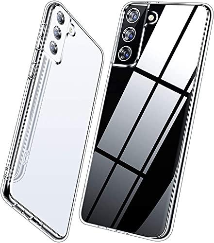 Vakoo Silikon Hülle für Samsung Galaxy S21 5G Hülle, Transparent Weiche Schutzhülle für Samsung S21 Hülle, Durchsichtig