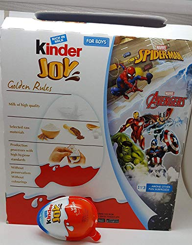 Kinder Joy Chocolates for Boys Rich in Milk - 24 Count