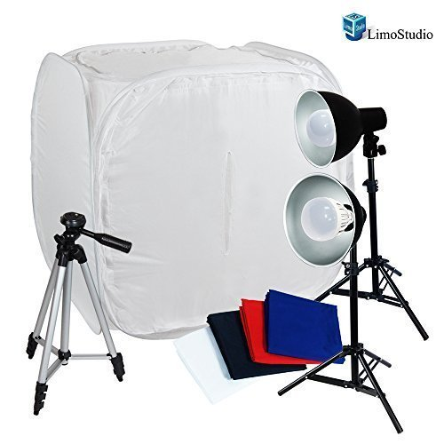 Limotable Top 30' Tents Softboxes Continous Led Light with 50' Portable Tripod for Camcorder Camera, Agg1453