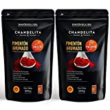 CHANDELITA Pimentón de la Vera Ahumado Dulce y Picante en Polvo en Bolsa (2x500gr) con la Denominación de Origen Protegida - Especias y Condimentos. Gourmet & Premium - 100% Pimentón