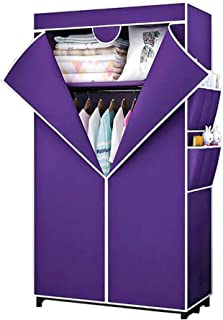 HWG Armoire Penderie Armoire Tissu Garde Robe Tissu avec 2 étagères De Rangement Rail Suspendu pour Chambre, Salon