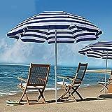 WQF Sombrilla de Playa al Aire Libre, sombrillas de Mesa de Mercado, sombrillas de Pesca portátiles, Redondas, sombrillas y a Prueba de Lluvia, Tiendas en...