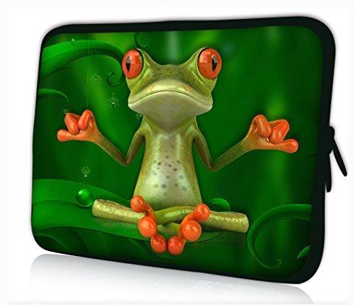 "Funky Planet 15""-15,6"" Zoll Tablet Laptop Tasche Schutzhülle Bags/Cases (15 Yoga Frog)"