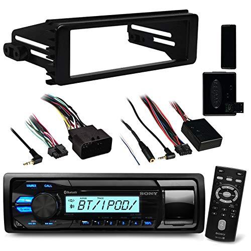 96-2013 Marine Harley Touring Bluetooth Stereo Radio Install Adapter Dash Kit Flht Flhx Flhtc Sony