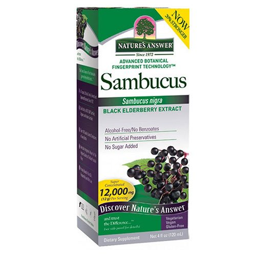 Natures Answer Ranking TOP14 Sambucus Black Elder Berry 3 Extract Ounce 4 - p Max 40% OFF
