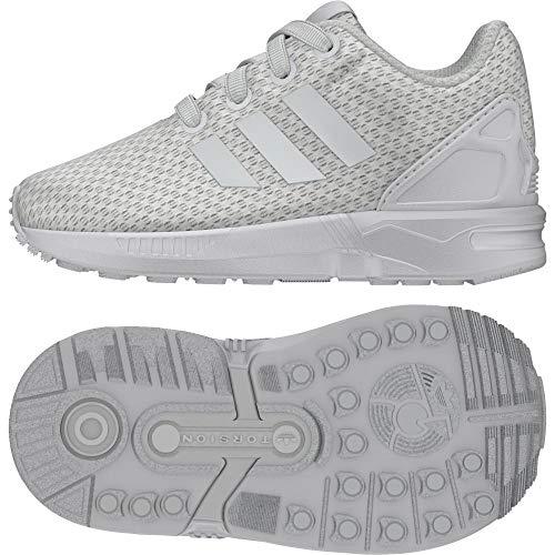 adidas ZX Flux El i, Scarpe da Ginnastica Basse Unisex-Bambini, Bianco (Footwear White/Footwear White/Footwear White), 26 EU