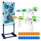 DX DA XIN Moving Shooting Targets Game Electric Scoring Target Kids Toy with 2 Popper Guns 18 Foam Balls Outdoor...