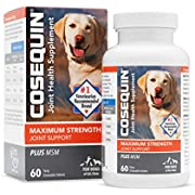 Nutramax Laboratories Cosequin Plus MSM Chewable Tablets, 60 Count