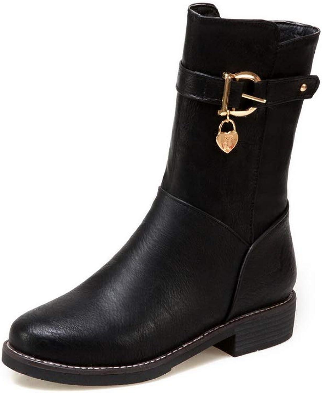AdeeSu Womens Beaded Solid Boots Urethane Boots SXC03018