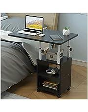 LSRRYD Laptoptafel, bijzettafel, hoogte verstelbaar, verzorgingstafel, PC, notebook, tafel, laptopstandaard, notebookstandaard, met wielen en legplank voor bed en sofa (kleur: C)