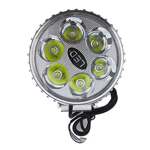 Luz LED Focos de luces de trabajo 18W para motocicleta Electromóvil Impermeable Luz de conducción Faros