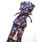 KiumiToys刀袋 剣袋 和柄 携帯用 コスプレ バックストラップ 肩掛け付 模造刀 居合刀 竹刀 日本刀 飾りストラップ付 幅15cm 長さ132㎝ (藍桜)