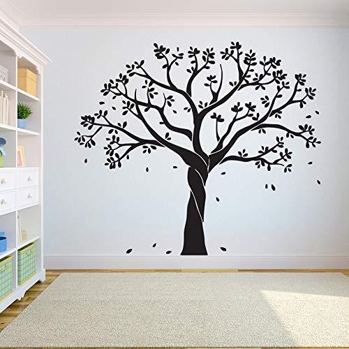 Etiqueta de la pared del árbol pegatinas dormitorio árbol de la vida pájaros volando lejos decoración del hogar hojas hojas caídas pegatinas de pared A8 66x57 CM