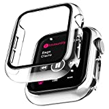 LϟK 2 Pack Funda Protector de Pantalla de Cristal Templado Incorporado para Apple Watch 40mm Series 6 5 4 SE - Estuche Protector General para PC Duro HD Ultra-Thin Carcasa para iWatch 40mm - Claro