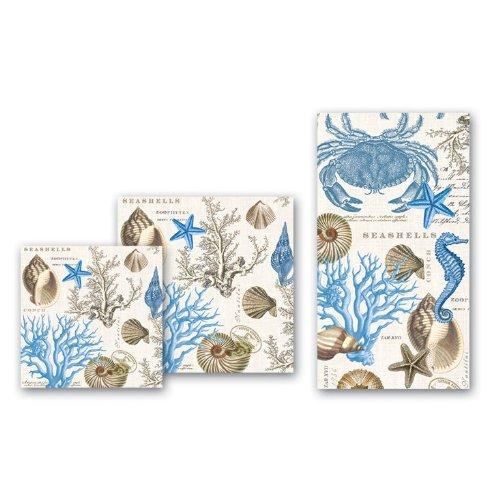 Michel Design Works 20-Count 3-Ply Paper Luncheon Napkins, Seashore