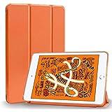 MS factory iPad mini 2019 mini5 ケース カバー アイパッド ミニ 第5世代 スマートカバー 耐衝撃 ソフト フレーム オートスリープ ケースカバー パパイヤ オレンジ IPDM5-S-TPU-OR