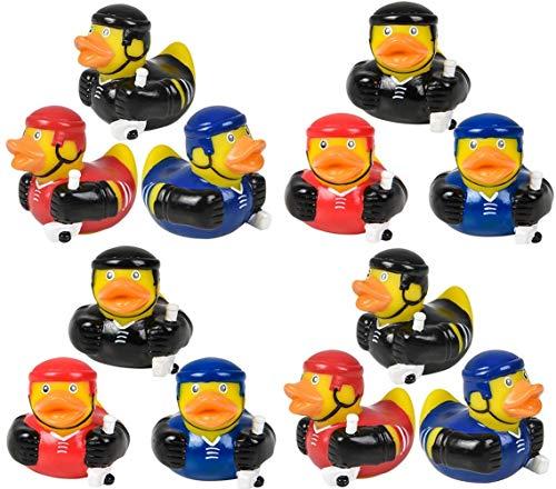 HAPPY DEALS ~ 12 Hockey Rubber Ducks - Hockey Party Favors