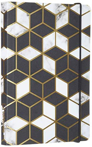 MARBLED PATTERN 12x17 cm - Blankbook - 240 blanko Seiten - Softcover - gebunden: Midi Flexi GlamLine