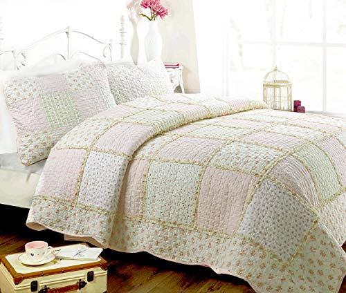 pink and green quilt - 9