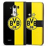 DeinDesign Etui Compatible avec LG G3 Etui Folio Etui magnetique Borussia Dortmund Étoiles BVB