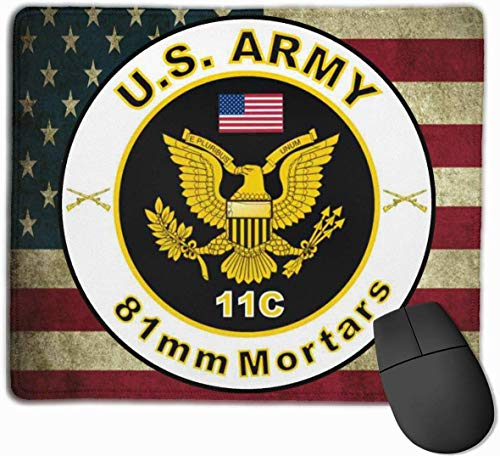 US Army MOS 11C 81mm Mörser Mauspads Rutschfeste Gaming-Mausunterlage Mousepad