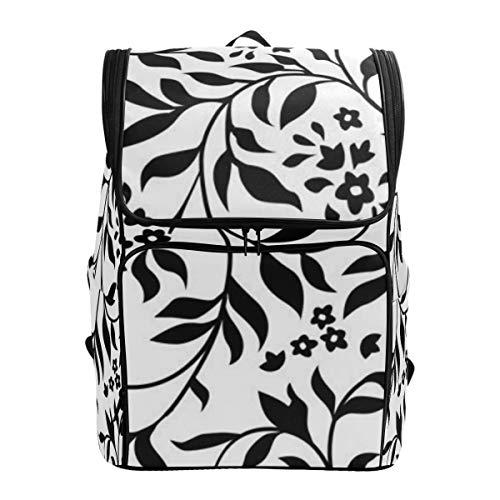 LISNIANY Rucksack,Vektor, der Ivy Pattern Swatch Included wiederholt,Computertasche,Schultasche,große Kapazität