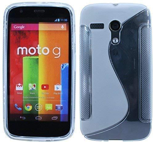 ENERGMiX Silikon Hülle kompatibel mit Motorola Moto G (1.Gen.) Schutzhülle Case Cover Gel in Transparent