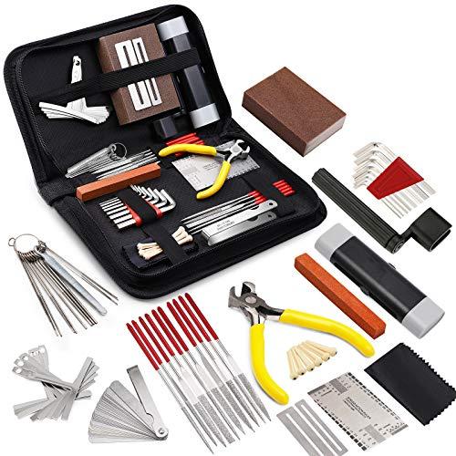 MIFOGE 45Pcs Guitar Repairing Maintenance Tool Kit