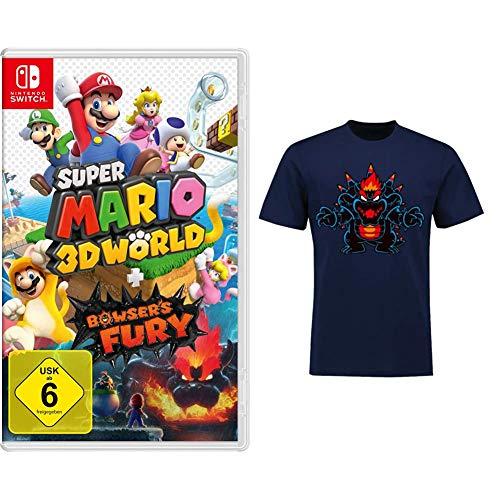 Super Mario 3D World + Bowser's Fury [Nintendo Switch] + 3D World - T-shirts L