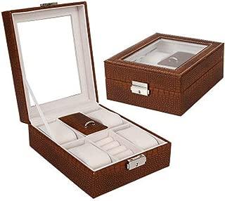 Jewelry Box Jewelry Storage Box Women's Retro Gift Earrings Jewelry Box(Coffee One Size)